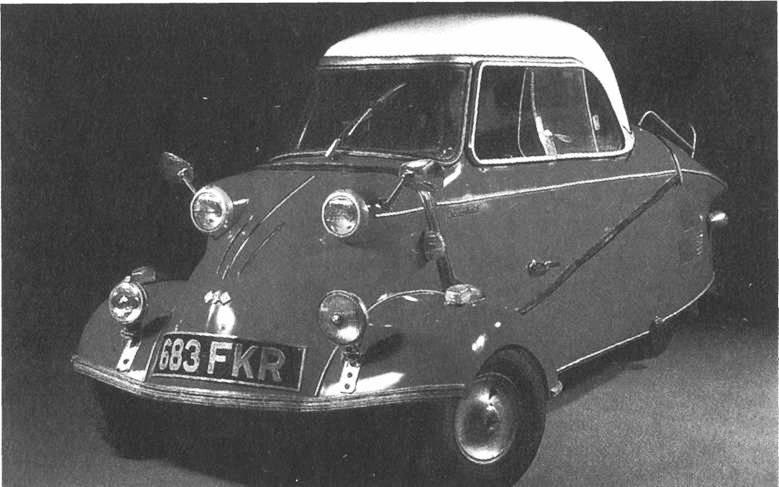 """Фриц Фенд.  Мотороллер с кабиной  """"Мессершмит КР 200 """", 1956 г. Идеи дизайна в эпоху промышленных революций."""